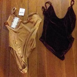 Two New Velvet Bodysuits!